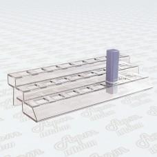 Пластиковая подставка под помады на 3 яруса