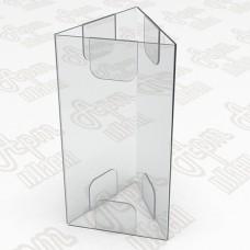 Тейбл тент на три плоскости. Формат 1/3 А4-105x210мм