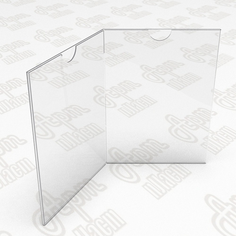Тейбл тент на четыре плоскости. Формат А5-150x210мм
