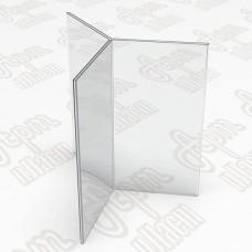 Тейбл тент на шесть плоскостей. Формат 1/3 А4-105x210мм
