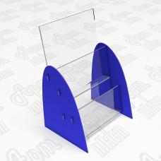 Буклетница из оргстекла на 2 яруса. Формат 1/3 А4-105x210мм