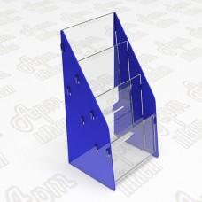Подставка под брошюры на 3 яруса. Формат 1/3 А4-105x210мм
