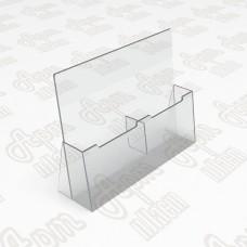 Подставка для буклетов на 2 секции. Формат 1/3 А4-105x210мм