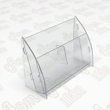 Холдер настольный на 2 секции. Формат 1/3 А4-105x210мм