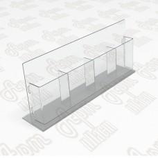 Холдер настольный на 4 секции. Формат 1/3 А4-105x210мм