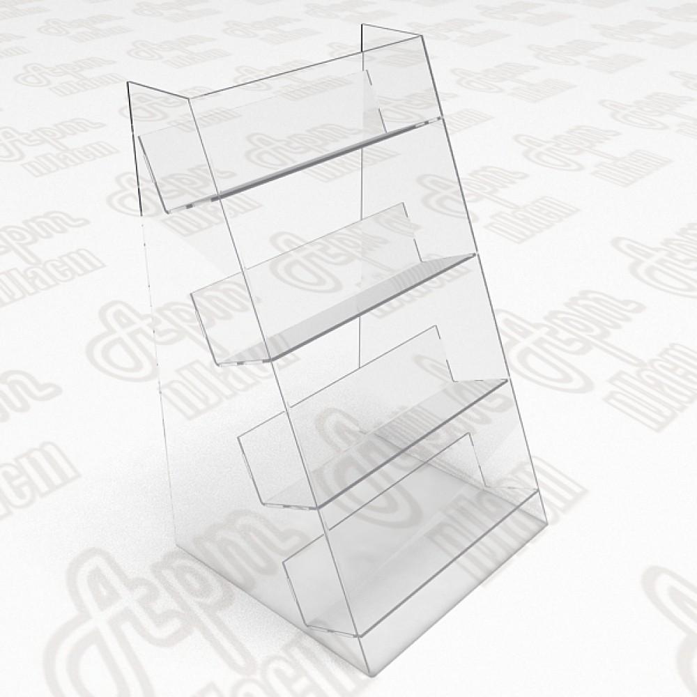Пластиковый стеллаж под товары на 4 полки.