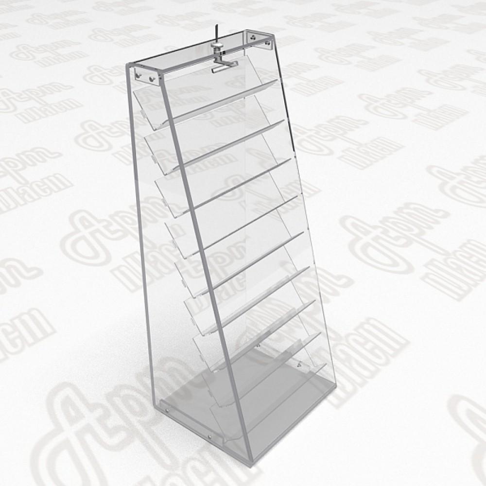 Прилавок витрина на 9 пластиковых полок.