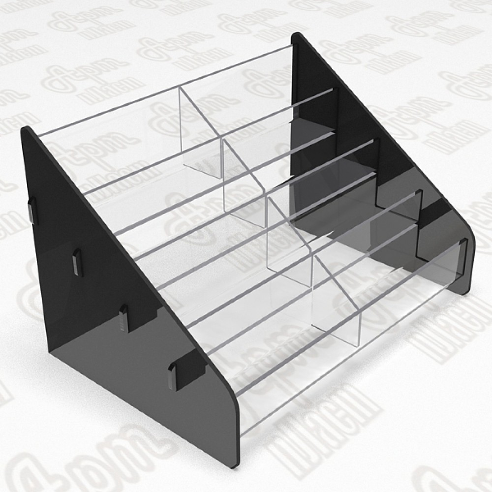 Подставка для визиток на 4 яруса 2 секции.